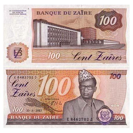 Billets de banque Zaire Pk N° 29 - 100 Zaires