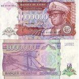 Billet de collection Zaire Pk N° 45 - 1000000 Zaires