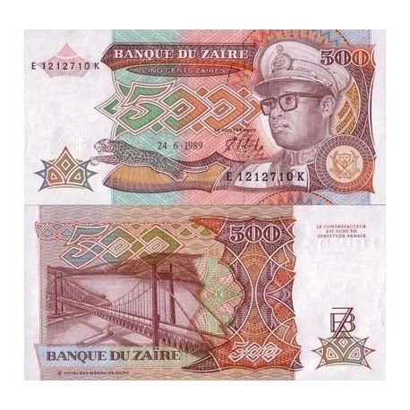 Zaire - Pk N° 34 - Billet de 500 Zaires