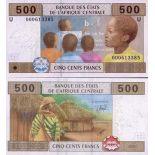 Billet de banque Afrique Centrale Cameroun Pk N° 206 - 500 Francs
