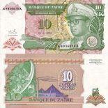 Los billetes de banco Zaire Pick número 49 - 10 Zaire
