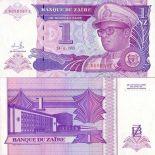 Billet de collection Zaire Pk N° 52 - 1 Nouveau Zaire