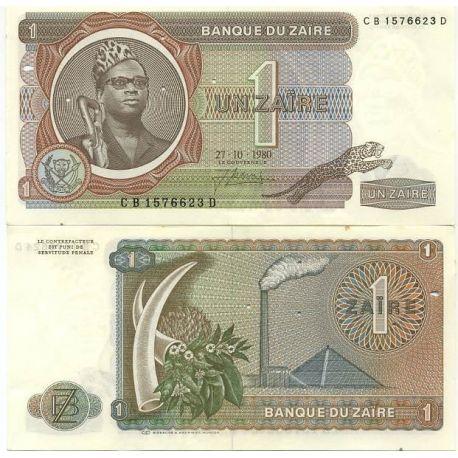 Billets de banque Zaire Pk N° 18 - 1 Zaires