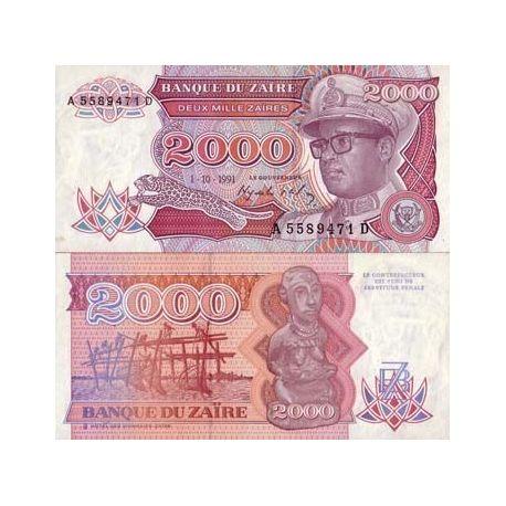 Zaire - Pk N° 36 - Billet de 2000 Zaires