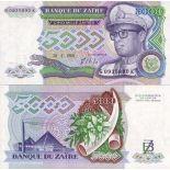 Billet de banque Zaire Pk N° 37 - 5000 Zaires