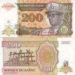 Banknote collection Zaire Pick number 61 - 200 Zaire