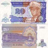 Banknoten Zaire Pick Nummer 56 - 20 Zaire