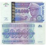 Billet de collection Zaire Pk N° 75 - 50000 Nouveaux Zaires