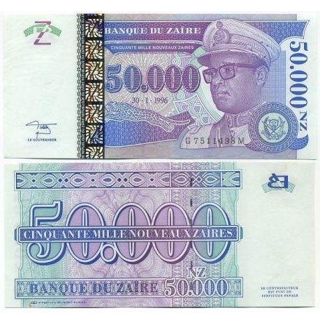Billets de collection Billet de collection Zaire Pk N° 75 - 50000 Nouveaux Zaires Billets du Zaire 11,00 €