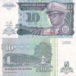 Colección Billetes Zaire Pick número 55 - 10 Zaire