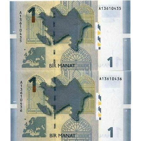 Billet de banque Azerbaidjan Pk N° 24 - Billet de 1 Manat