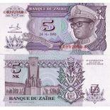 Banconote Zaire Pick numero 48 - 5 Zaire