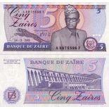 Los billetes de banco Zaire Pick número 26 - 5 Zaire