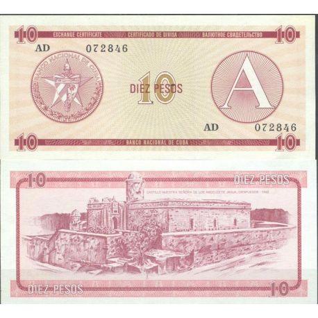 Cuba - Pk N° 4FX - Billet de banque de 10 Pesos