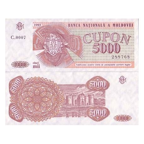 Moldavie - Pk N° 4 - Billet de banque de 5000 Cupon