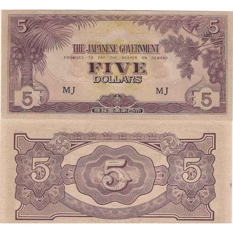 Malaisie - Pk N° 6M - Billet de banque de 5 Dollar