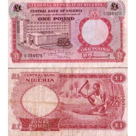 Billets de collection Nigeria - Pk N° 8 - Billet de banque de 1 Pound Billets du Nigeria 4,00 €
