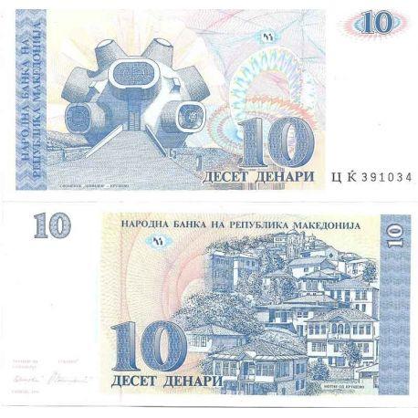 Billets de collection Macedoine - Pk N° 9 - Billet de banque de 10 Denari Billets de Macedoine 6,00 €