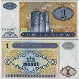 Schone Banknote Aserbaidschan Pick Nummer 14 - 1 Manat 1993