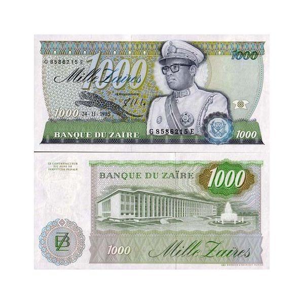 billet de banque zaire