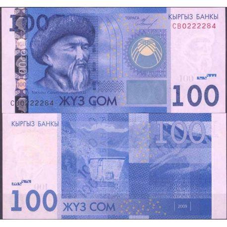 Kirghizstan - Pk N° 26 - Billet de banque de 100 Som