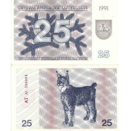 Lituanie - Pk N° 36 - Billet de banque de 25 Litai