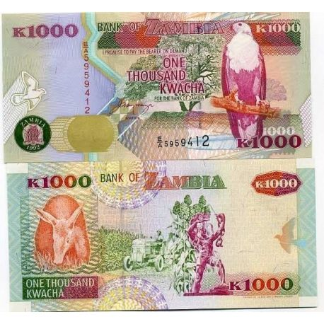 Billets collection Zambie Pk N° 40 - 1000 Kwacha