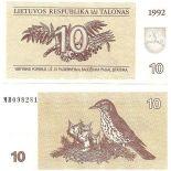 Lituanie - Pk N° 40 - Billet de banque de 10 Talonas