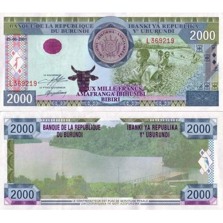 Billets de collection Burundi - Pk N° 41 - Billet de banque de 2000 Francs Billets du Burundi 15,00 €