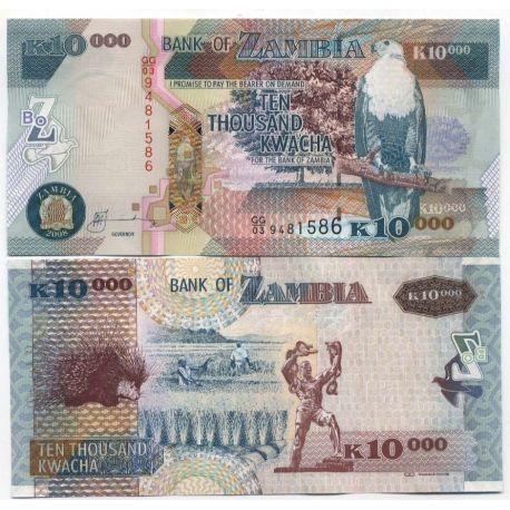 Zambie - Pk N° 9999999 - Billet de 10000 Kwacha