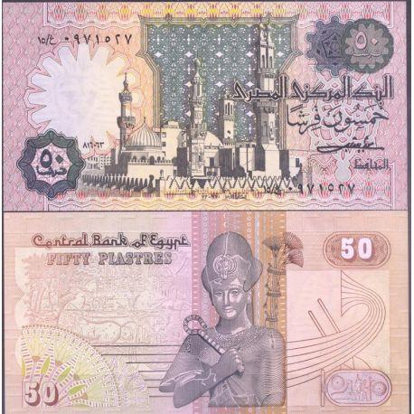 Billets de collection Egypte - Pk N° 55 - Billet de banque de 50 Piastres Billets d'Egypte 7,00 €
