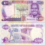 Beautiful banknote Zambia Pick number 34 - 100 Kwacha