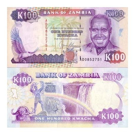 Billet de collection Zambie Pk N° 34 - 100 Kwacha