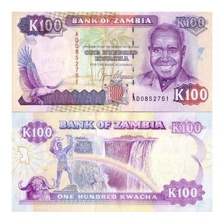 Zambie - Pk N° 34 - Billet de 100 Kwacha