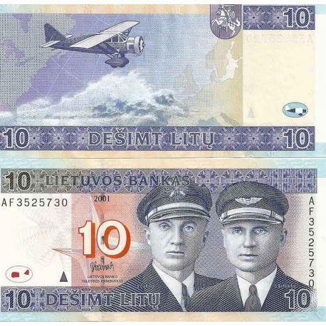 Lituanie - Pk N° 65 - Billet de banque de 10 Litu