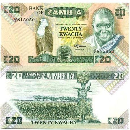 Billets de collection Billets de banque Zambie Pk N° 27 - 20 Kwacha Billets de Zambie 4,00 €