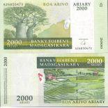Collezione di banconote Madagascar Pick numero 90 - 2000 FRANC