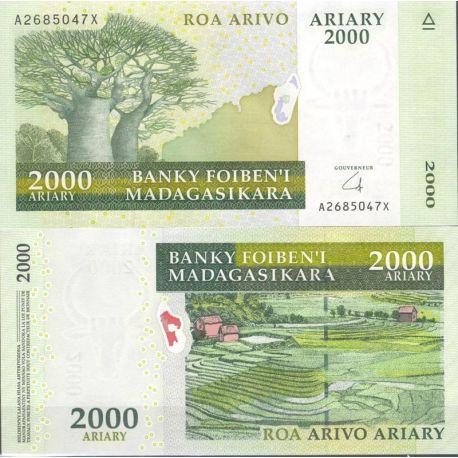 Madagascar - Pk N° 90 - Billet de banque de 2000 ARYARY