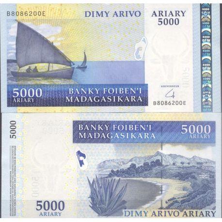 Billets de collection Madagascar - Pk N° 91 - Billet de banque de 5000 Francs Billets de Madagascar 22,00 €