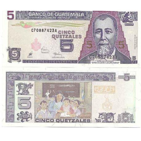 Guatemala - Pk N° 100 - Billet de banque de 5 Quetzal