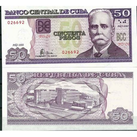 Billets de collection Cuba - Pk N° 119 - Billet de banque de 50 Pesos Billets de Cuba 18,00 €