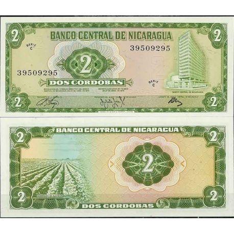 Billets de collection Nicaragua - Pk N° 121 - Billet de banque de 2 Cordobas Billets du Nicaragua 3,00 €