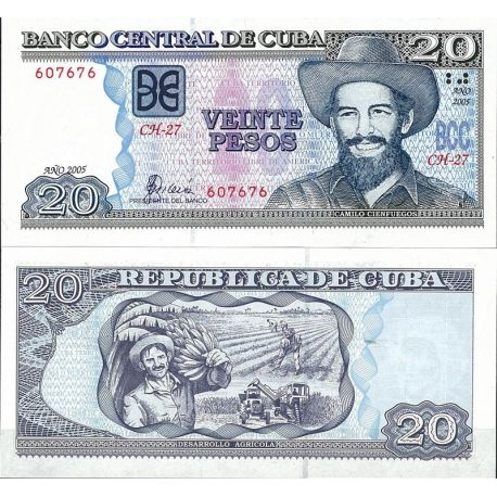 Billets de collection Cuba - Pk N° 122B - Billet de banque de 20 Pesos Billets de Cuba 4,00 €