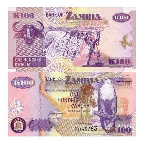 Billets de collection Billet de banque Zambie Pk N° 38 - 100 Kwacha Billets de Zambie 1,00 €