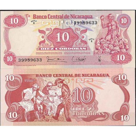 Billets de collection Nicaragua - Pk N° 134 - Billet de banque de 10 Cordobas Billets du Nicaragua 4,00 €
