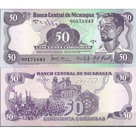 Billets de collection Nicaragua - Pk N° 140 - Billet de banque de 50 Cordobas Billets du Nicaragua 4,00 €