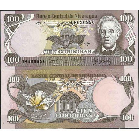 Billets de collection Nicaragua - Pk N° 141 - Billet de banque de 100 Cordobas Billets du Nicaragua 4,00 €