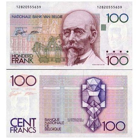 Belgique collection - Billet de collection Pk N° 142 - Billet de banque de 100 Francs