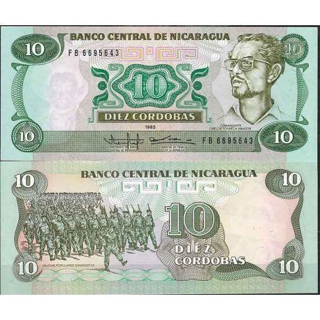 Billets de collection Nicaragua - Pk N° 151 - Billet de banque de 10 Cordobas Billets du Nicaragua 4,00 €