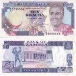 Banknoten Sambia Pick Nummer 31 - 10 Kwacha